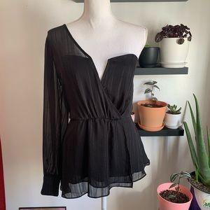 ASTR one shoulder blouse